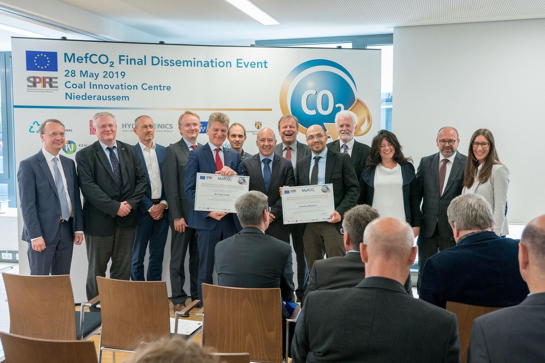 MefCO2 demuestra que es posible producir metanol verde a partir de la captura de CO2