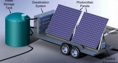 Desalación con energía solar móvil en Marruecos