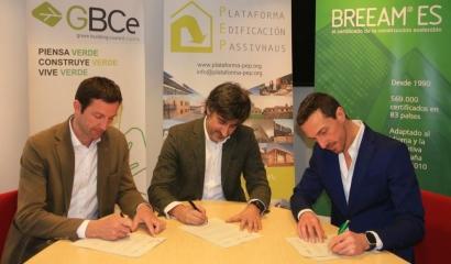 Alianza de los tres grandes de la construcción sostenible en España