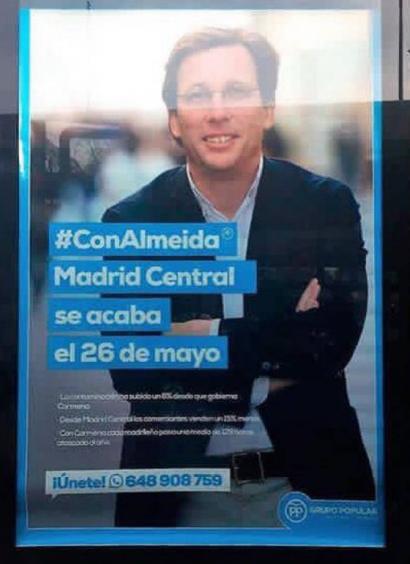 """La reforma de Madrid Central que preparan Almeida y Villacís constituye un """"retroceso inadmisible"""""""
