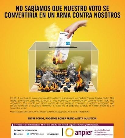 """El PP """"silencia"""" a Anpier durante la campaña electoral"""