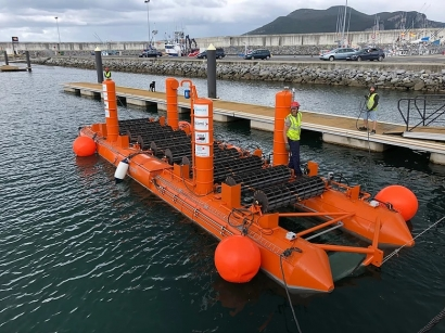 La empresa vasca Arrecife probará su captador de la energía de las olas frente a la costa de Vizcaya