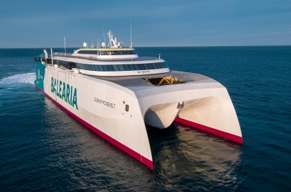 Barcelona-Menorca, el primer ferry de Europa en emplear biometano