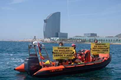 """Greenpeace le pide a Sánchez que los fondos europeos no sirvan """"a los de siempre"""""""