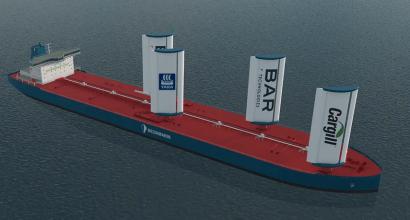Velas de ala rígida para ayudar a que la industria naval ahorre hasta un 30% de combustible
