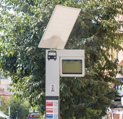 Las paradas de bus solares de Capmar podrían ahorrarle a la ciudad de Sevilla centenares de miles de kilogramos de CO2