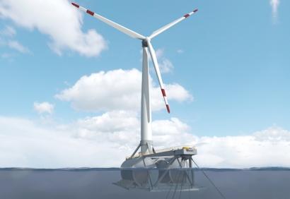 El primer aerogenerador marino flotante de España será instalado el año que viene en aguas vascas