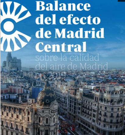 Madrid Central permitió reducciones históricas en 2019 de la contaminación por dióxido de nitrógeno