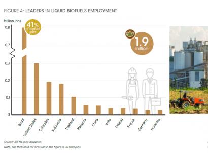La bioenergía, con los biocarburantes a la cabeza, crece en empleos a escala mundial