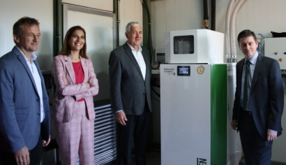 La caldera austríaca que quema pellets y produce energía térmica y eléctrica... en Badajoz