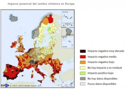"""Impacto potencial del cambio climático """"muy negativo"""" en más de 3.000 kilómetros de la costa mediterránea española"""