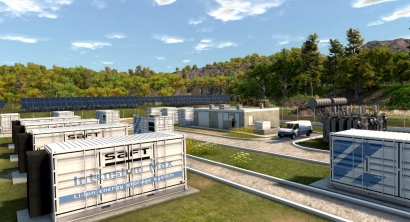 Saft logra almacenar 2.500 kilovatios hora de energía eléctrica en una batería-contenedor de 20 pies