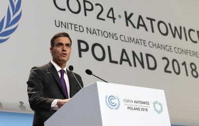 """Sánchez asegura en la Cumbre del Clima de Katowice que impulsará """"una transición ecológica justa"""" en las cuencas mineras"""