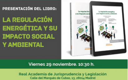 Anpier aborda la regulación energética y su impacto social y ambiental en un nuevo libro