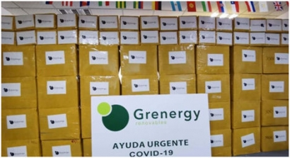 Grenergy donates 55,000 pieces ofPersonal Protective Equipment to Madrid City Council