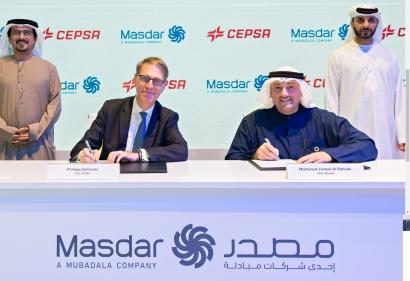 Masdar y Cepsa se alían para conquistar el mercado renovable de la Península Ibérica