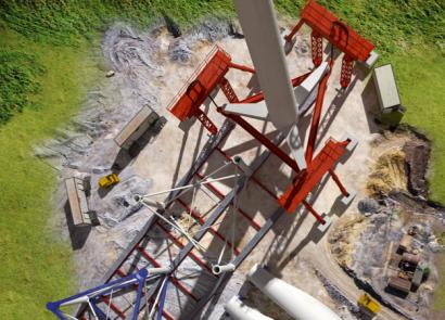 Nabrawind y Peikko desarrollan una innovadora cimentación anclada en roca que simplifica la instalación de aerogeneradores