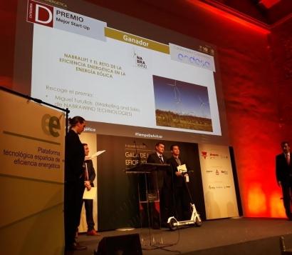 Nabrawind Technologies, premiada como mejor start up por la Plataforma Tecnológica Española de Eficiencia Energética