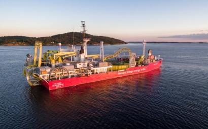 Cada metro del cable submarino que conectará Menorca y Mallorca pesa 56 kilos