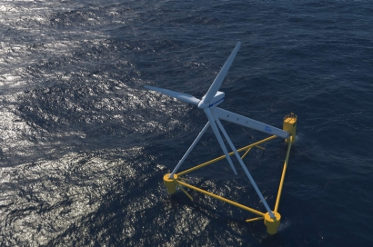 La UE subvenciona con 2,5 millones de euros el prototipo de plataforma eólica marina flotante de la catalana X1 Wind