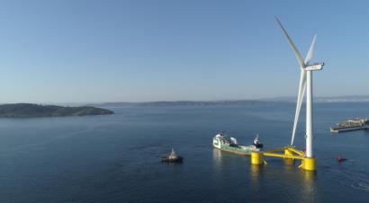 Sale de Ferrol la tercera plataforma del primer parque eólico flotante semisumergible del mundo