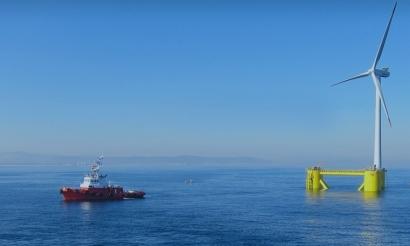 La marca ibérica de la eólica marina flotante