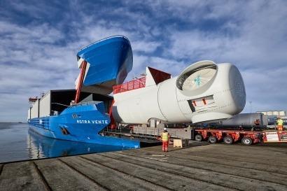 Un hito en materia de logística eólica marina
