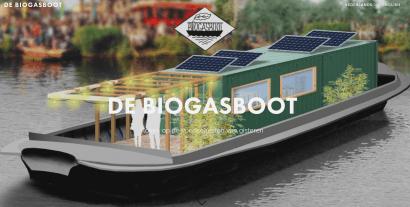 Un barco de biogás para el Ámsterdam más ecológico