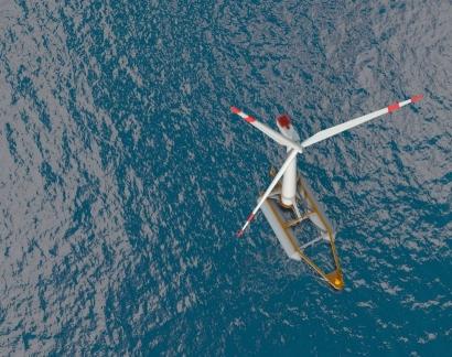 El primer aerogenerador marino flotante español se conectará a la red el año que viene