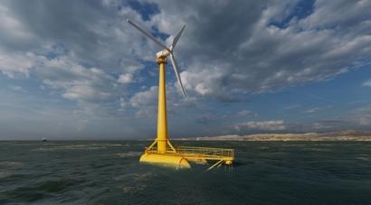 Saitec elige la costa cántabra para ensayar su plataforma eólica flotante
