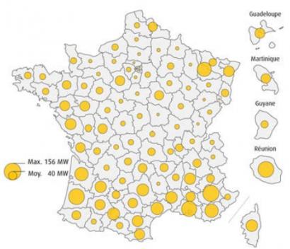 Francia tiene ya casi tanta energía solar FV como España