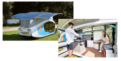 El coche-vivienda Stella Vita, alimentado por energía solar,visita Madrid