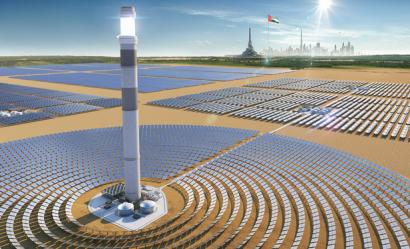 La torre más alta del mundo en una central solar ya está terminada