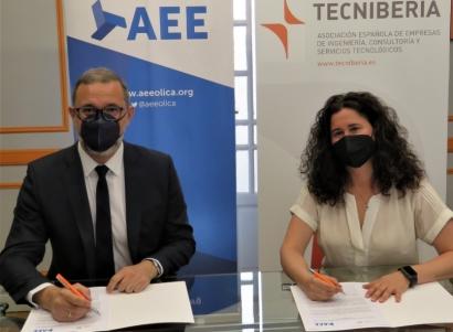 Tecniberia y AEE firman un acuerdo para reforzar la proyección internacional del sector eólico español