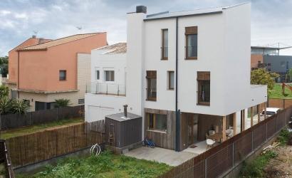 Una vivienda de madera de tres pisos logra la calificación A de eficiencia energética