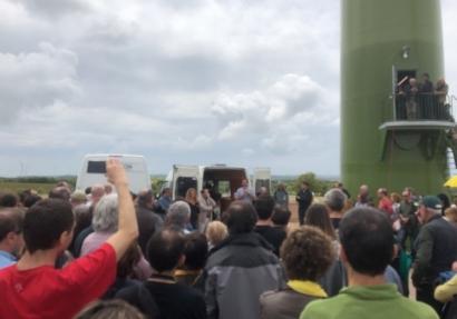 Barcelona inaugura el primer aerogenerador comunitario del sur de Europa
