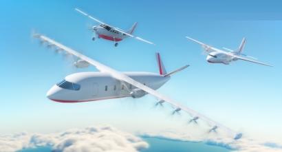 El primer avión español 100% eléctrico, en la pista de despegue