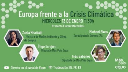 Más País Equo pide al Gobierno mayor ambición en sus objetivos climáticos