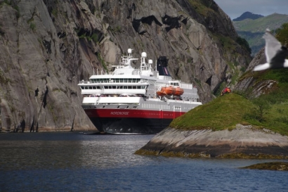 Un crucero por los fiordos de Noruega con biogás en los motores