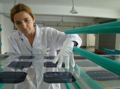 Las placas solares de la mayor instalación fotovoltaica grancanaria serán marca España