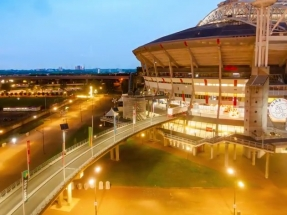 El sistema de almacenamiento de electricidad más grande de Europa está en un estadio de fútbol