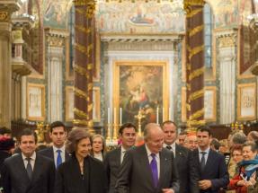 Los reyes eméritos inauguran la iluminación de la basilica romana Santa María La Mayor