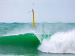 Esta es la historia del aerogenerador flotante BlueSATH y del paso del huracán Epsilon por la costa cántabra
