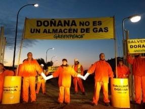 Greenpeace exige a Gas Natural que abandone de inmediato su proyecto de almacenamiento de gas en el entorno de Doñana