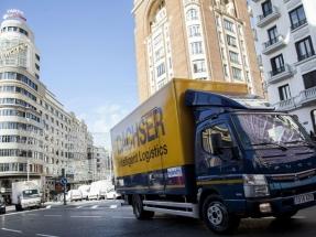 La compañía de transportes Dachser introduce en Madrid el primer Mercedes híbrido de 7,5 toneladas