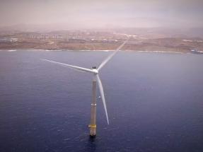 Espectacular vídeo del primer aerogenerador eólico marino español