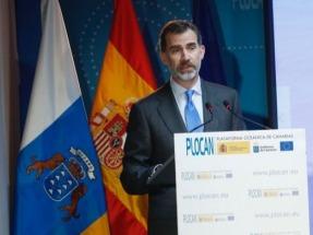 Felipe VI se olvida de las energías renovables en su visita ala Plataforma Oceánica de Canarias