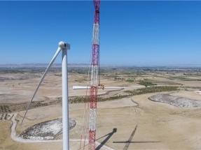 Comienzan a instalaren Zaragoza los aerogeneradores Siemens Gamesa del parque eólico El Pradillo