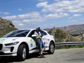 El Jaguar I-PACE de Electric Challenge establece un nuevo récord del mundo en Madrid