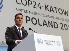 """Sánchez asegura en la Cumbre de Katowice que impulsará """"una transición ecológica justa"""" en las cuencas mineras"""